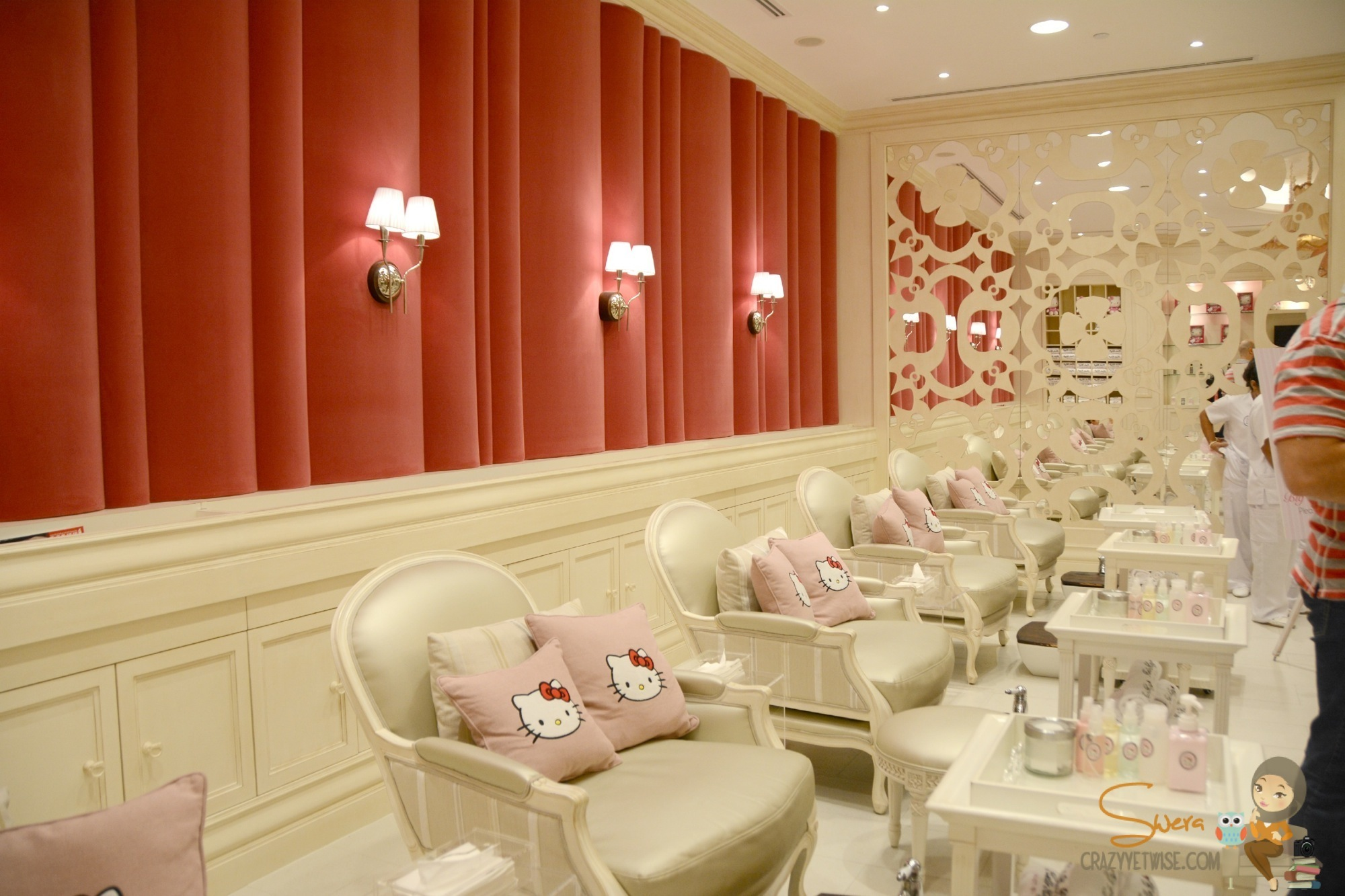 the opening of hello kitty spa the avenues crazy yet wise